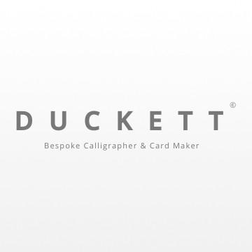 Duckett Bespoke Calligrapher