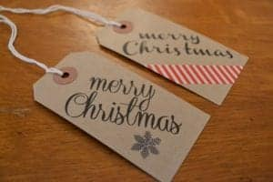 Christmas Gift Tag Drop-in-Workshop