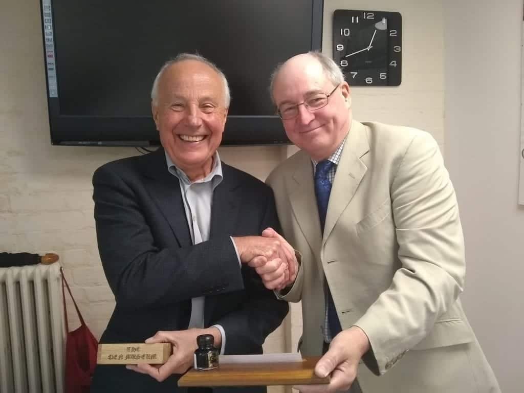 John Crabtree OBE and Phil Davis AGM 2019 Pen Museum